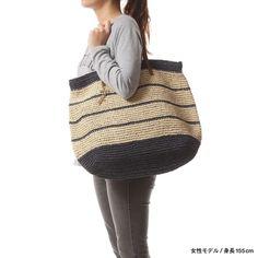 【VERY掲載商品】 ラウゴア Laugoa Leto(Navy) -靴とファッションの通販サイト ロコンド Crochet Cross, Love Crochet, Beautiful Crochet, Knit Crochet, Crotchet Bags, Knitted Bags, Crochet Handbags, Crochet Purses, Crochet Market Bag