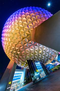 Love the moon. TheTimeTheSpace - My Portfolio Disney Theme, Disney Love, Disney Parks, Walt Disney World, Spaceship Earth, Buy Prints, Epcot, Fair Grounds, Instagram Posts