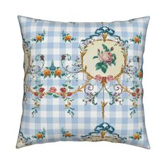 Meet the Catalan knife-edge pillow, available in square or lumbar sizes. Organic cotton, durable canvas or linen-cotton with image on both sides. Pillow Cover Design, Throw Pillow Covers, Throw Pillows, Cotton Canvas, Cotton Fabric, Blue Gingham, Decoration, Tea Towels, Spoonflower