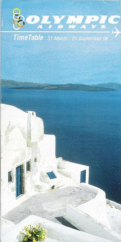 Vintage travel poster ~ OLYMPIC AIRWAYS Old Posters, Retro Posters, Vintage Travel Posters, Vintage Ads, Olympic Airlines, Holiday Posters, Greek Culture, Pub, Travel Stuff