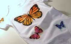 Girls Butterfly Onesie Bodysuit Crawler by MaineCoonCrafts on Etsy, $21.00