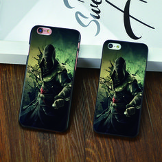 New plastic case For iphone 6 6s plus 5 5s 5c 4 4s Black skin Anime ultra thin cover Tokyo Ghoul / one piece / assassins creed