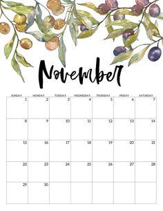2020 Free Printable Calendar – Floral – Paper Trail Design – Office organization at work Family Calendar, Free Calendar, Print Calendar, Calendar Pages, November Printable Calendar, Floral Printables, Free Printables, November Kalender, To Do Planner