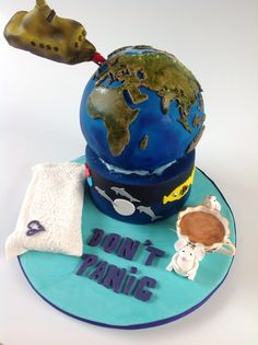 Hitchhiker's Guide to the Galaxy cake for CJ.
