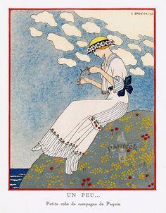 La Gazette du Bon Ton - Paquin - Petite Robe de Campagne - 1913