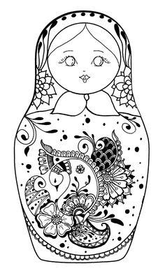 Galerie de coloriages gratuits coloriage-pourpee-russe-5.