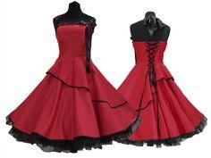 Petticoatkleider - Wow zuckersüsses Petticoatkleid Abiballkleid - ein Designerstück von myrockabillymode bei DaWanda