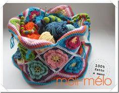 Crochet Roses Bag