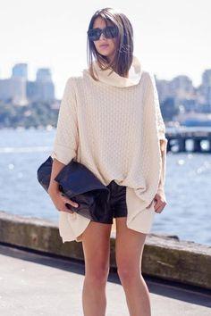 turtle neck (pictured: @Sara Donaldson) #streetstyle #fashion