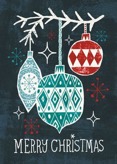 Christmas Ornaments Art Print