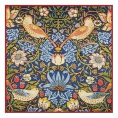 Counted Cross Stitch Chart Strawberry Thief by Arts and Crafts Movement Founder William Morris