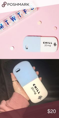 Valfre Chill Pill iPhone 6/6S Case Silicone iPhone 6/6S Case by artist Valfre -- Chill Pill in Blue Valfre Accessories Phone Cases