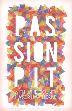 passion pit gig poster
