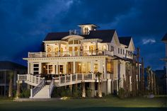 love the different elements of the upper porches