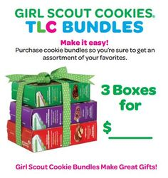 Free, printable table tent to promote cookie bundles Scout Mom, Daisy Girl Scouts, Girl Scout Cookie Sales, Girl Scout Cookies, Girl Scout Leader, Girl Scout Troop, Brownie Scouts, Girl Scout Activities, Girl Scout Juniors