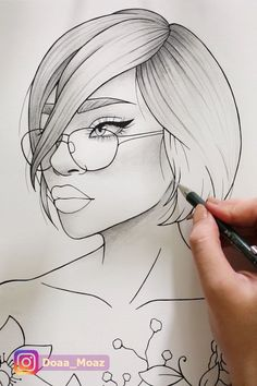 Coloring page ♥ – Dibujar arte - Pour Vous Outline Drawings, Pencil Art Drawings, Easy Drawings, Pencil Drawings For Beginners, Beginner Sketches, Art Du Croquis, Girl Drawing Sketches, Boy Hair Drawing, Drawing Step