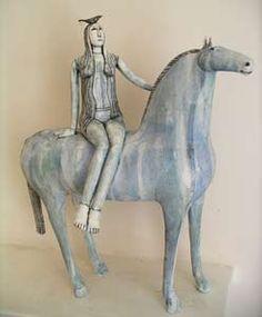 Anna Noel, horse ridder and bird