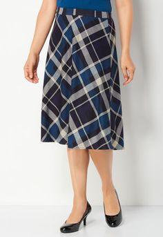 Bias Plaid Skirt