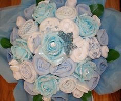Hand-Made Baby Boy Bouquet Made with Real by AvaGraceDesignsUK