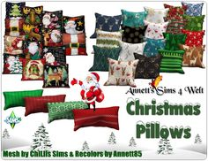Annett`s Sims 4 Welt: Christmas Pillows Home Decor Dyi, Home Decor Near Me, Christmas Room, Christmas Pillow, Sims 4 Mods, Sims 3, Sims 4 Cc Furniture Living Rooms, Sims 4 Clutter, Before And After Diy