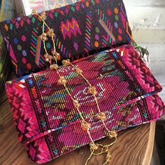 Hand embroidered clutch bags #faithcolectiva #mexico #puertovallarta #guatemalan