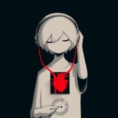 Illustration Illustrating The Bleed of Humanity Created by Technology: - Anime Art Dark Anime, M Anime, Anime Art, Anime Demon, Kawaii Anime, Anime Girls, Art And Illustration, Dark Art Illustrations, Anime Negra