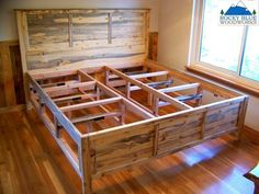 Beetle Kill Pine Platform Bed