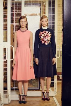 Erdem Pre Fall 2014  - LOVE the neckline beading