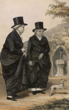 The Ladies of Llangolen were two aristocratic Irish women who caused a major scandal in 1778 when, rather than be forced into arranged marriages, they ran away together to set up house in Wales. The couple became something of a tourist attraction, with luminaries such as Wordsworth, Shelley and Sir Walter Scott all paying them a visit.