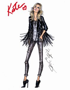 Hayden Williams Fashion Illustrations: The 'Gig' Look by Hayden Williams for Rimmel London