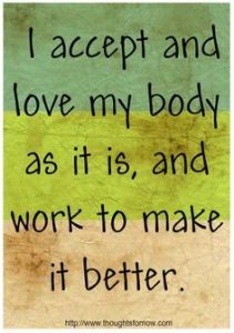 "Loving Your Body #MiracleMonday Using the affirmation ""I am grateful for my body"" can help chronic illness patients help accept their body and embrace love. #spoonie #spoonielife"