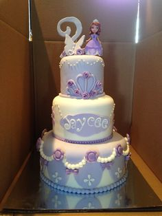 Jaycee's Sofia the first birthday cake.