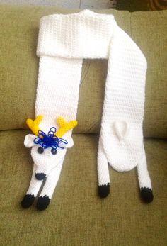 bufanda de reno scarf amigurumi crochet www.facebook.com/LunaticosMR