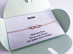 **Mama & Tochter Armband // Infinity Braut Liebe** **Mama - Heute eine Braut, Morgen eine Ehefrau, Für immer Deine Tochter**  **Love yourself and your Mum**. Dieses roségoldene Infinity Armband...