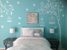 Tree Branches With Birds Decals – Floral Garden