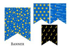 Twinkle Twinkle Little Stars Banner Lullaby by MagicalPrintable
