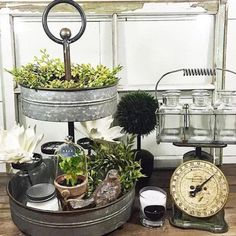 Farmhouse Galvanized Metal Stand
