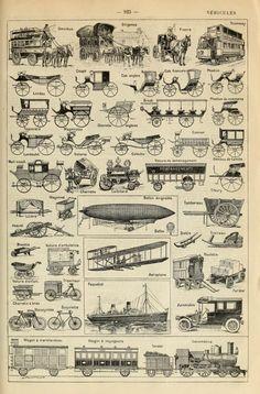 vintage transportation- Le Larousse pour tous : nouveau dictionnaire en...
