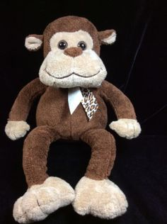 Animal-Alley-Brown-Tan-Monkey-Plush-Soft-Toy-Stuffed-Animal-12