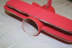 Summer project! Make a vintage plane mobile from toilet paper tubes