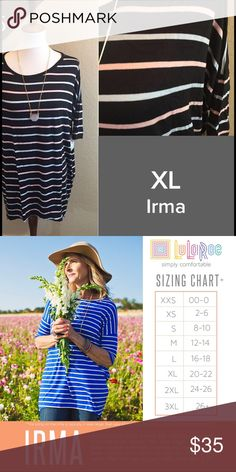 LuLaRoe Irma Size XL NWT We have tons more to list. helping a friend liquidate her inventory. So let us know what your looking for and we will see what we have in your size. She is open to offers as well. Jewelry is Park Lane! We can get those items too! Create a bundle for you. LuLaRoe Tops Tunics