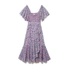 *Exclusive* Adult Camila Dress, Audrey Sprig Skylark Cotton Crepe Vacation Dresses, Summer Dresses, Girly Girl Outfits, Curated Shopping, Skylark, Indian Textiles, Buy Buy Baby, Floral Prints, Cold Shoulder Dress
