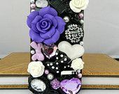 iPhone case  3D phone case iPhone 4 case iPhone 4s case iPhone cover Bling Crystal flower