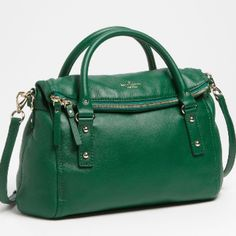 Kate Spade Cobble Hill Leslie in green Soft pebbled leather Leslie bag in jelly green. Includes long strap for cross body wear. Worn for about a month, no marks or significant signs of wear. Full zip closure. Includes dust bag. kate spade Bags Crossbody Bags