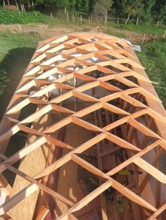 Roofing Maintenance Tips For Your Home - Roofing Design Guide Curved Pergola, Metal Pergola, Dome House, House Roof, Pergola Plans, Pergola Kits, Pergola Ideas, Patio Roof Covers, Roof Truss Design