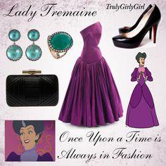 Disney Style: Lady Tremaine, created by trulygirlygirl Disney Prom, Disney Dress Up, Disney Girls, Disney Clothes, Disney Live, Disney Princess Fashion, Disney Inspired Fashion, Disney Style, Disney Fashion