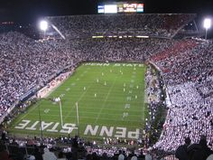 I love night White Outs in Beaver Stadium!  No feeling better then performing to 110,00 fans!!