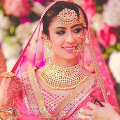 Pink and Gold ! A bride's best friends ! #Beautiful #Weddingplz #Wedding #Bride #Groom #love # Fashion #IndianWedding  #Beautiful #Style