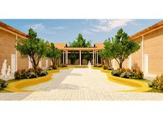 Escola - Fazenda Canaa Mansions, House Styles, Home Decor, Farmhouse, School, Mansion Houses, Homemade Home Decor, Villas, Fancy Houses