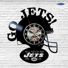 Jets NFL Vinyl Record Wall Clock